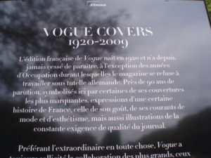 The French edition of Vogue was first published in 1920 and has never missed an issue except during the Occupation when the magazine refused to work under German supervision. Nearly 90 years of publication, represented here by some of the most striking covers, express certain sides of French history—its taste, its fashion and aesthetic trends—but also illustrate the magazine's constant focus on quality.
