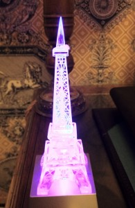 Lighted Eiffel Tower compr