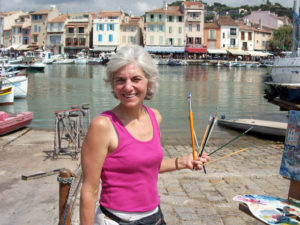 Jill Painting in Cassis