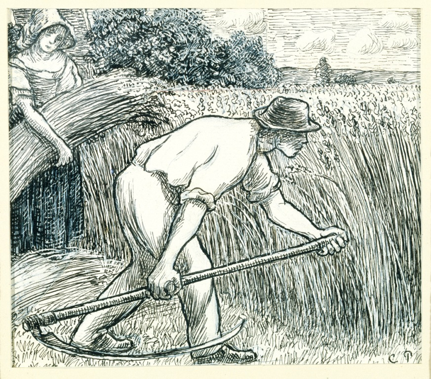 Camille Pissarro_The Harvest (La Moisson)comp