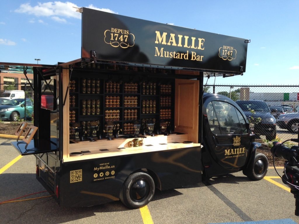 Maille Mustard Mobile on the Road