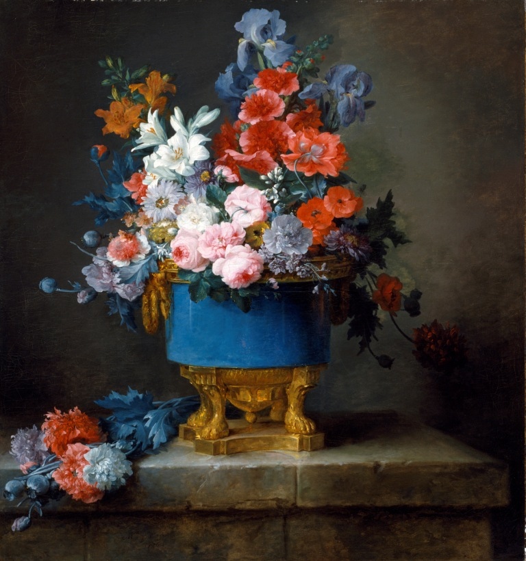 Anne Vallayer-Coster_Bouquet of Flowers in a Blue Porcelain Vasecomp
